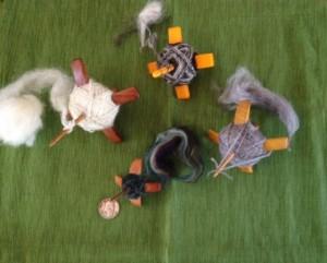clockwise from top: TurtleMade Turkish mini;  Jenkins Lark, Kuchulu, and Aegean