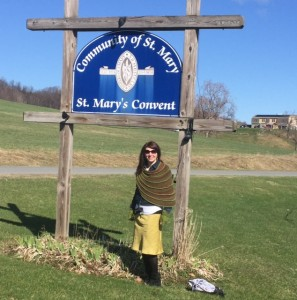 Ready to visit the Cashmere sheep at St. Mary's on the Hill.