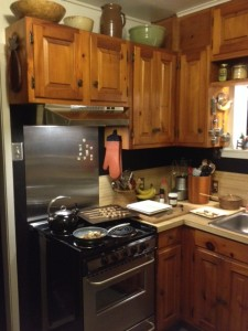 "Our kitchen ""spruce up"" began when we finally purchased a new stove and hood."