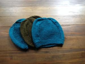 Three Barley Hats in Cascade 220