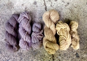 naturally-dyed skeins