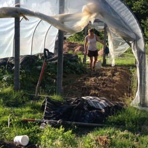 Jessie uses hoop houses to extend the VT growing season