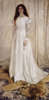 Finlay refers to Whistler's Symphony in White No. 1. I find it difficult to go on with reading until I've had a glimpse of the paintings she mentions.
