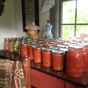 Here is just a sampling of my Mom's summer canning.