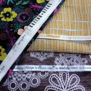 fabrics from Nido to be sewn into the Staple dress by April Rhodes