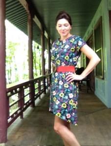 My first garment using April Rhodes' Staple Dress pattern.