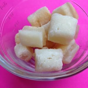 homemade mochi (a rice confection)