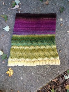"""Beautiful Polwarth fiber expertly dyed """"aubergine"""" by Patricia of Beesybee."""