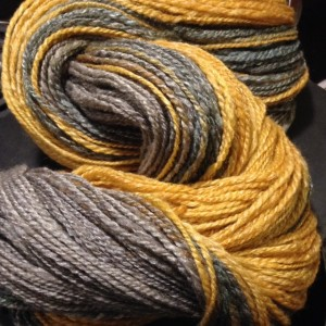 Kew Soft Fall Gradient from Daily Fibers, spindle spun and wheel plied: 433 yds. fingering / sport weight