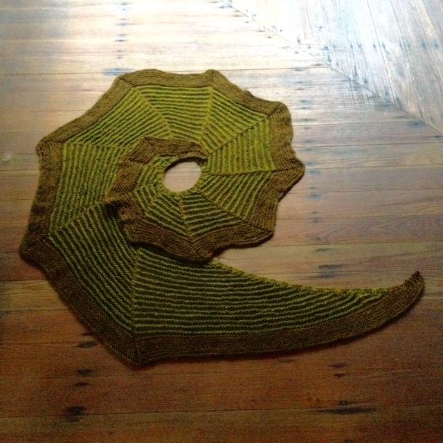 Geysir Stretch knit in Foster Sheep Farm kettle-dyed Romney / Wensleydale.