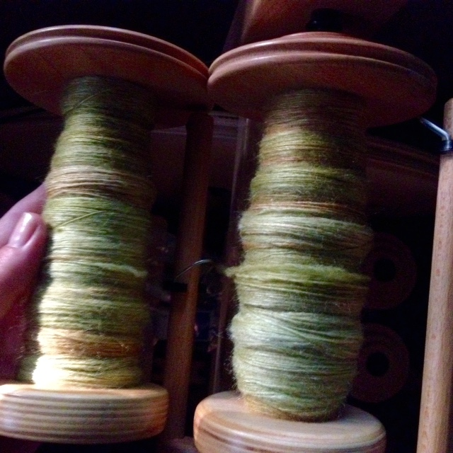 Singles from Three Waters Farm -- ready to ply.
