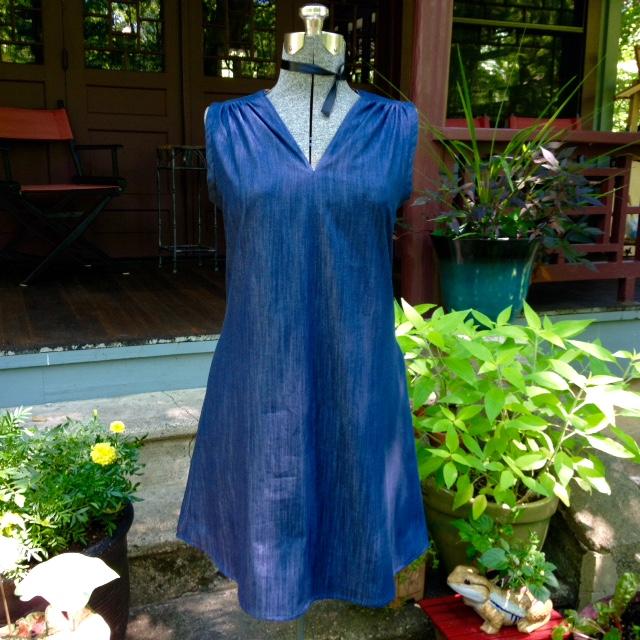 Endless summer tunic in lightweight denim chambray.