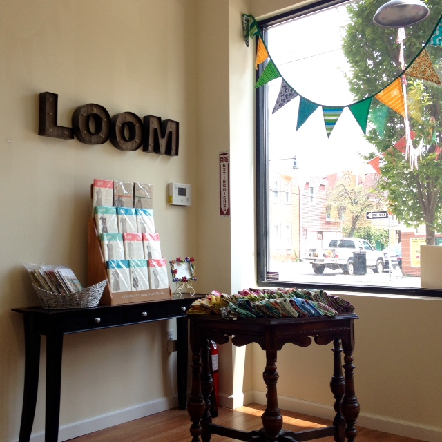 The LOOM Showroom in Morningside is new, and has a great selection of contemporary fabrics and indie patterns.