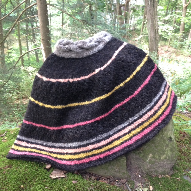 Knit with hand-processed, hand-spun, and botanically-dyed fibers, this Sheep to Shawl project is an adaptation of my forthcoming cowl design.