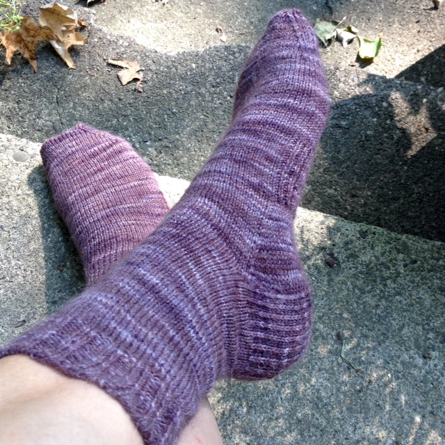 Socks complete. These will be perfect for winter. They are very warm because of the Wensleydale and alpaca.