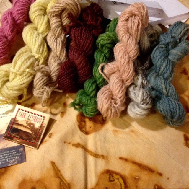 One randomly-selected winner will receive a rust-dyed bento bag and a collection of hand-spun, botanically-dyed mini-skeins. Add a post to the Fleece-wise discussion on Ravelry for a chance to win!