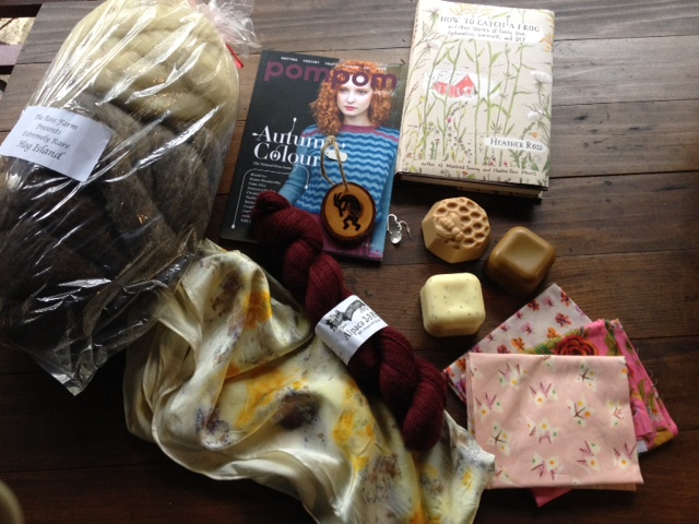 My Rhinebeck haul and some special gifts from Emily and Claire.