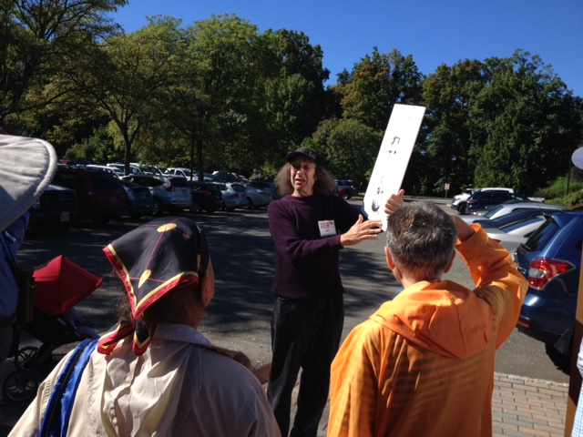 Jim Barg led a walking tour with information about local mushroom varieties.